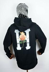 Huf-Worldwide-Hooded-Sweatshirt-Pullover-Hoodie-Ember-Rose-Classic-H-Black-in-M