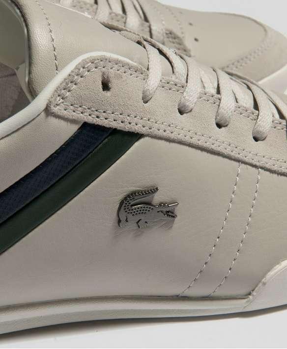 Lacoste Figuera 3 NEU Herren Leder Schuh Grau Weiß Anzug Golf Polo Freizeit