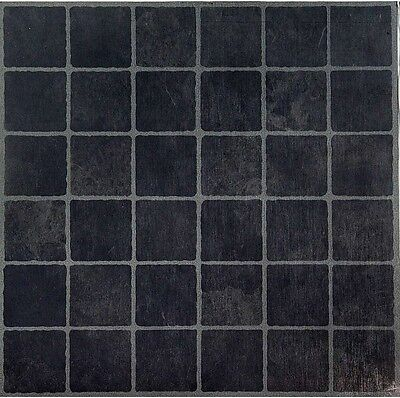 Vinyl Floor Tiles Self Adhesive Peel And Stick Black Grey Gray
