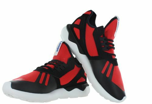 ADIDAS RedBlackWhite Men's Tubular Runner Athletic Running Sneaker Trainer