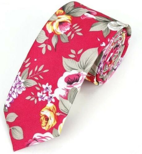 New Hawaiian Shirt Neck Tie Pink Flower Floral NeckTie Luau Hawaii US SELLER
