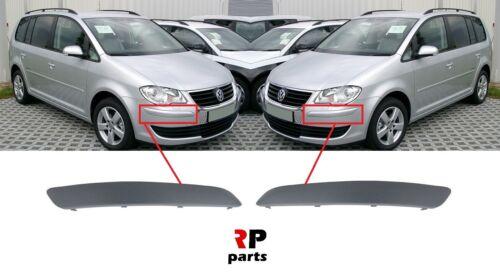 Pour VW Touran 2007-2010 Neuf Pare choc avant moulage amorcé Bordure Paire Set