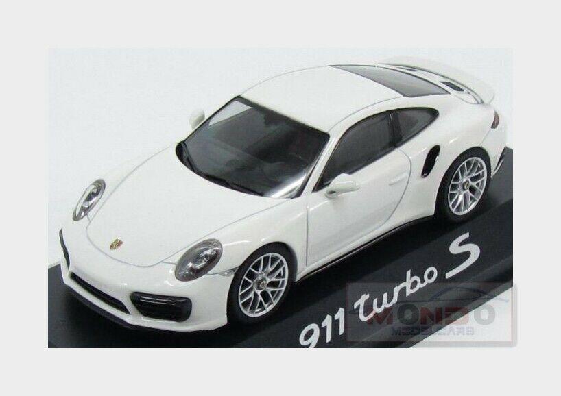 Porsche 911 991-2 Turbo S Coupe 2015 Uni White HERPA 1 43 WAP0201360G Model