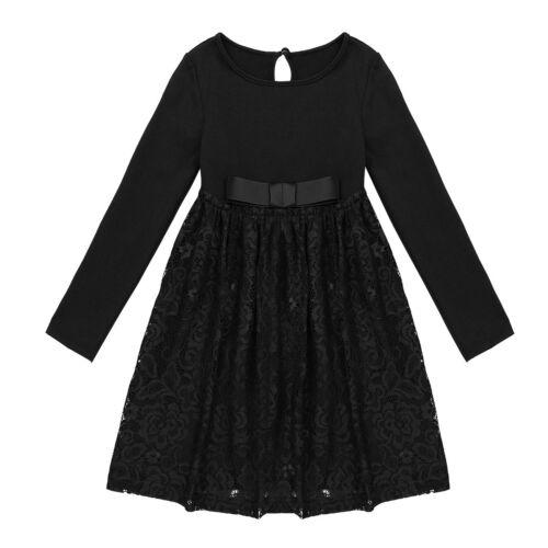 Kleider Kinder Mädchen Kleid Langarm Partykleid Festlich ...