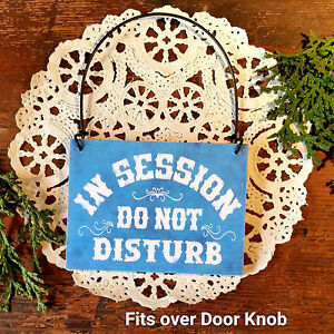 decowords mini wood sign in session do not disturb fits doorknob