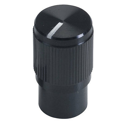 Knurled Anodised Aluminium Shell Knob for 6mm Splined Shafts Black Anodised