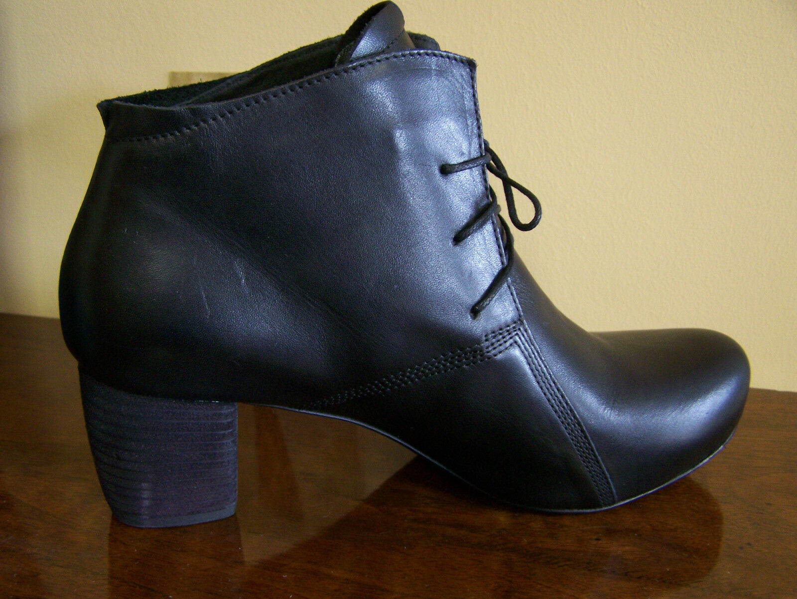 THINK SCHUHE Stiefelette SASSO schwarz für Lederfutter + Schuhbeutel auch für schwarz GOTHIC 9e7854