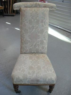 1800-1899 Painstaking Victorian Walnut Framed & Upholstered Prie-dieu Chair At Any Cost