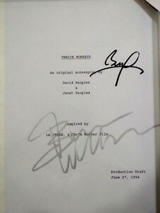 12-Monkeys-MOVIE-SCRIPT-Signer-by-Bruce-Willis-Brat-Pitt