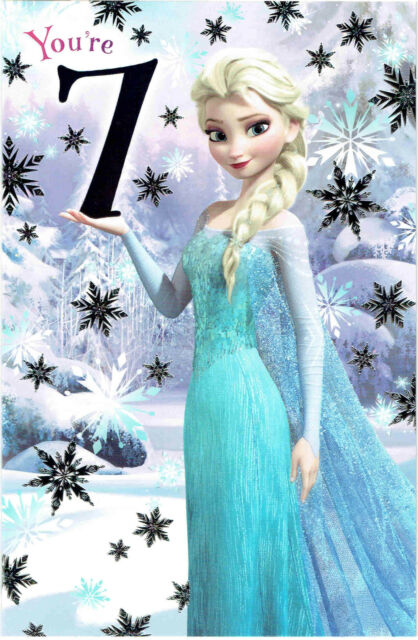 Frozen Elsa Youre 7 7th Birthday Card Gift Disney Ebay