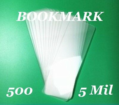 "200 Bookmark Laminating Laminator Pouches Sheets 5 mil 2-1//8 x 6/"" Quality"