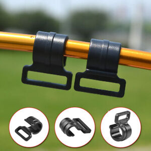10Pcs Black Outdoor Camping Tent Pole Clips Plastic For Tent Hook Clip Supplies