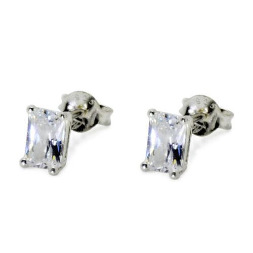 Cristal claro plata esterlina 925 Cubic Zirconica CZ Stud pendientes corazón de la estrella