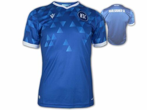 Macron KSC Kinder Heim Trikot 20 21 blau Karlsruher SC Home Shirt Junior 128-152