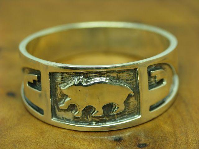 925 STERLING silver RING   TIERMOTIV   WELLEN   ECHTsilver   6,2g   RG 73