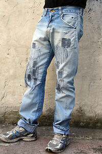 LEVIS-101-VINTAGE-80s-TWISTED-MENS-JEANS-DENIM-FADED-RED-TAB-STRAIGHT-W31-L34