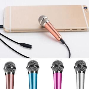 Portable-3-5mm-Stereo-Studio-Mic-KTV-Karaoke-Mini-Microphone-For-Cell-Phone