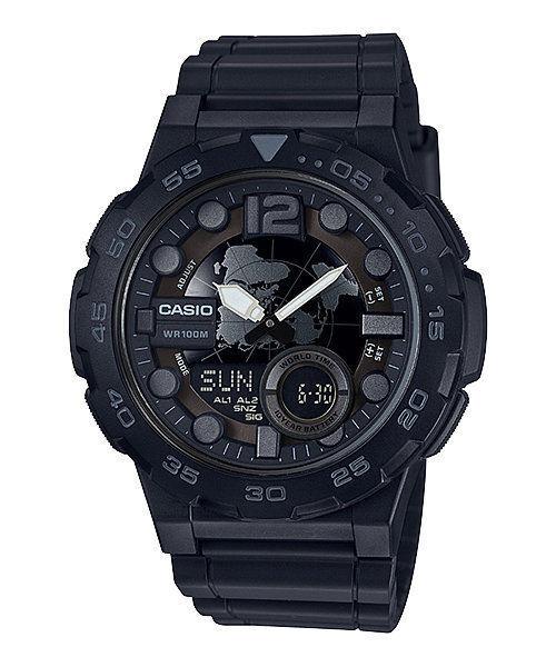 Casio Men's Quartz Analog-Digital Black Resin Band 47mm Watc