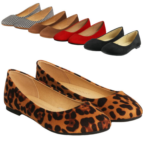 Women's Classic Round Toe Slip on Ballet Flat Shoes Comfort Casual Walking Shoes