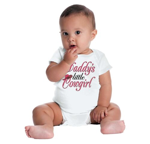 Daddys Little Cowgirl Country Southern Belle Rodeo Queen Baby Gerber Onesie