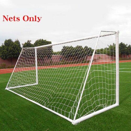 Football Soccer Goal Post Net  White Net Rope Training Mini Soccer Door Outdoor