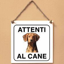 Srpski Gonic Segugio Serbo 1 Attenti al cane Targa piastrella cartello sign dog