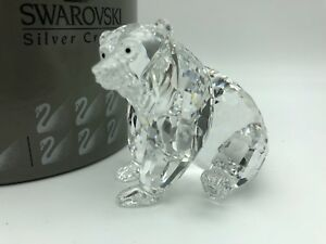Swarovski-Figurine-243880-Ours-Grizzly-Assis-9-Cm-avec-Emballage-amp-Certificat