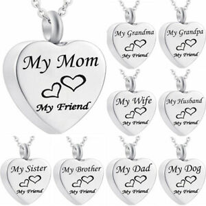 Cremation-Jewellery-for-Ashes-Funeral-Ash-Pendant-Silver-Heart-Urn-Necklace-SP