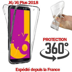 COQUE-360-TRANSPARENTE-J6-2018-J6-PLUS-SILICONE-GEL-PROTECTION-INTEGRAL