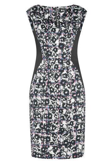 BNWT CUE V-neck Check Leopard Print Dress Sz 6  RRP