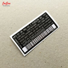 VIN DOOR JAMB DECAL, 911 993 (1993 – 1998) porsche sticker technical