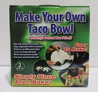 2x Taco Salad Bowl Maker Tortilla Baking Pans Nonstick Molds 6.75 Taco Bowl