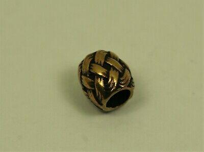 Bartperle Perle Bronze Wikinger Flechtwerk Lockenperle +