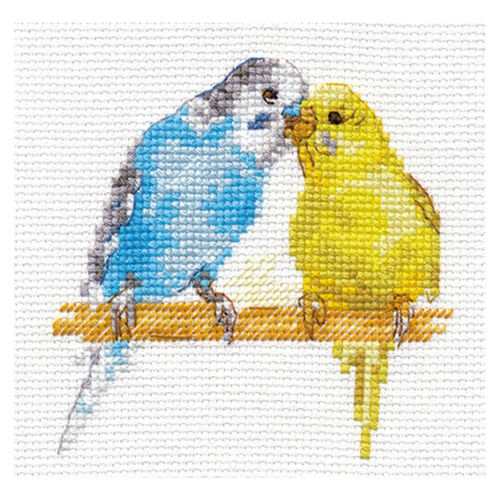 Alisa Cross Stitch Kit-Perruches mortes