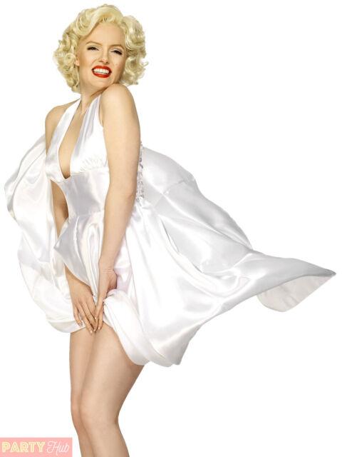 Smiffys Women s Marilyn Monroe Classic Costume Halterneck Dress for ... abf3d6ab57