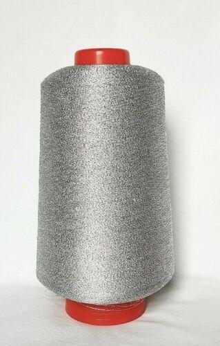 Cupro Lurex • ARGENT • Beilaufgarn Metallgarn Glanzgarn Silber Effekt Kone