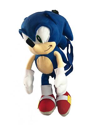 "18/"" Sonic the Hedgehog Kids Toddler Safety Plush Backpack Bag Licensed Product"