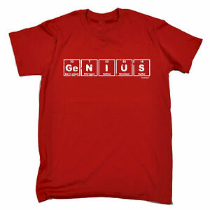 Genius Tableau Periodique T Shirt Homme Tee Shirt Cadeau D Anniversaire Connotes Nerd Science Drole Ebay