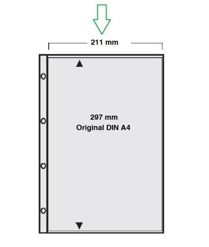 10 50 100 A4 Prospekthüllen Klarsichthüllen Hüllen 120my Stärke 0,12 mm GLASKLAR