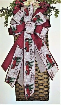 WIRED BOW for FLORAL DOOR WREATH SWAG GARLAND MAIL BOX FENCE POST # 63 rb