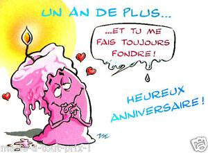 Détails Sur Carte Postale Danniversaire Tu Me Fais Fondre Bon Anniversaire Humour Joyeux