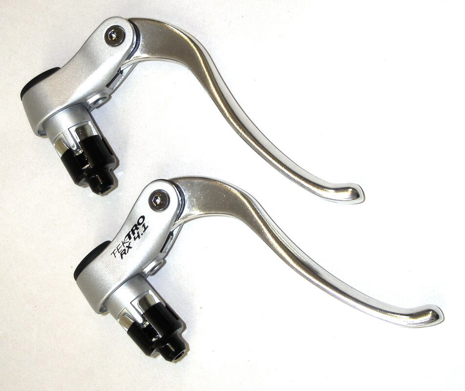 Tektro Rx 4.1 Inversa   Reverso Freno Palancas - Todo silver