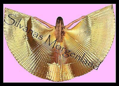 Isis Wings Wing Belly Dance Bauchtanz Schleier Fächer gold veil Tasche