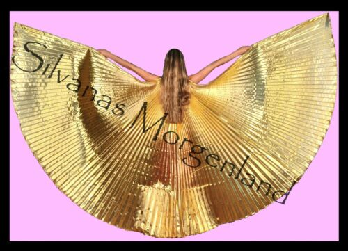 Isis Wings Wing Belly Dance Bauchtanz Schleier Fächer gold veil Tasche
