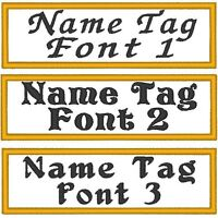 Custom Embroidered 6 X 1 Name Tag Patch With Velcro® Brand Fastener 27
