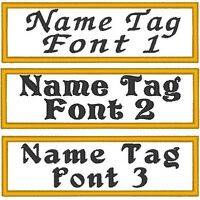 Custom Embroidered 7 X 1 Name Tag Patch Patch With Velcro® Brand Fastener 28