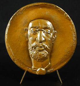 Large-Medal-to-Artist-Painter-Henri-of-Toulouse-Lautrec-S-Maxym-80mm-Medal
