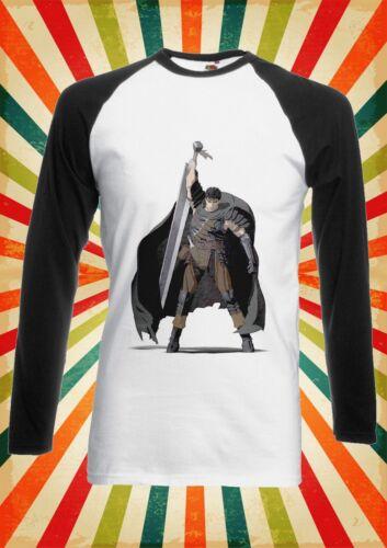 Guts Berserk Final Fantasy Men Women Long Short Sleeve Baseball T Shirt 157E