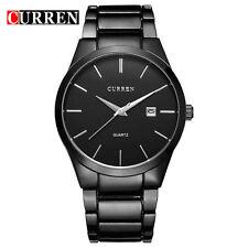 Curren Stainless Steel Case & Strap Quartz Watch Black Face