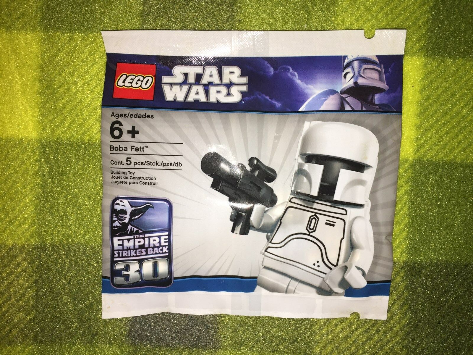 LEGO STAR WARS VERY RARE WHITE BOBA FETT POLYBAG PROMO SEALED - NEW